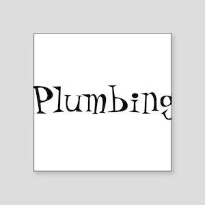"Plumbing10x8 Square Sticker 3"" x 3"""