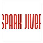 SparkJiver10x8 Square Car Magnet 3