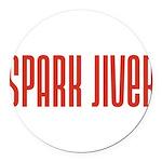 SparkJiver10x8 Round Car Magnet
