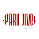 SparkJiver10x8 Oval Car Magnet