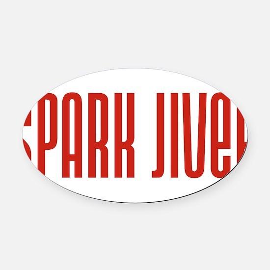 SparkJiver10x8.png Oval Car Magnet