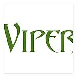 Viper Black T-Shirt Square Car Magnet 3