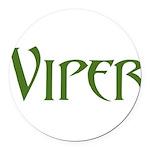Viper Black T-Shirt Round Car Magnet