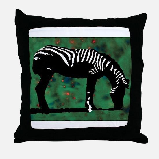 Zebra 10 Throw Pillow