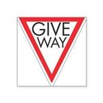 Give Way 10 Square Sticker 3