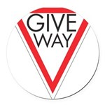 Give Way 10 Round Car Magnet