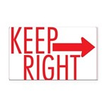 Keep Right 10 Rectangle Car Magnet