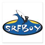 "SRFBOY Square Car Magnet 3"" x 3"""