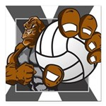 Apex Volleyball Square Car Magnet 3