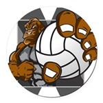 Apex Volleyball Round Car Magnet