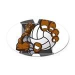 Apex Volleyball Oval Car Magnet