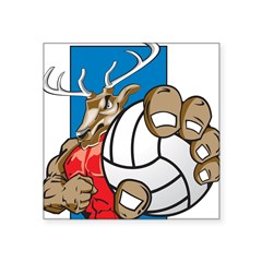 Bucks County Volleyball Square Sticker 3