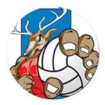 Bucks County Volleyball Round Car Magnet