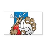 Bucks County Volleyball Rectangle Car Magnet
