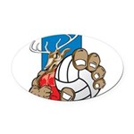 Bucks County Volleyball Oval Car Magnet