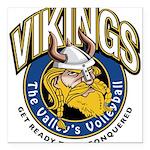 Vikings Logo Square Car Magnet 3