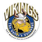 Vikings Logo Round Car Magnet