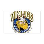 Vikings Logo Rectangle Car Magnet
