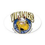Vikings Logo Oval Car Magnet