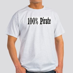 100% Pirate Ash Grey T-Shirt