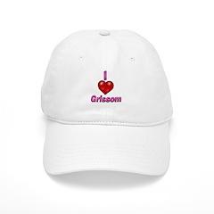 I heart grissom Baseball Cap
