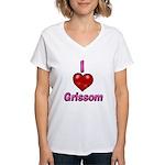 I heart grissom Women's V-Neck T-Shirt