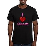 I heart grissom Men's Fitted T-Shirt (dark)