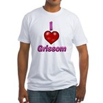 I heart grissom Fitted T-Shirt