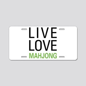 Live Love Mahjong Aluminum License Plate
