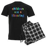 CHILDREN ARE A BLESSING Men's Dark Pajamas