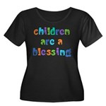 CHILDREN ARE A BLESSING Women's Plus Size Scoop Ne
