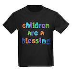 CHILDREN ARE A BLESSING Kids Dark T-Shirt