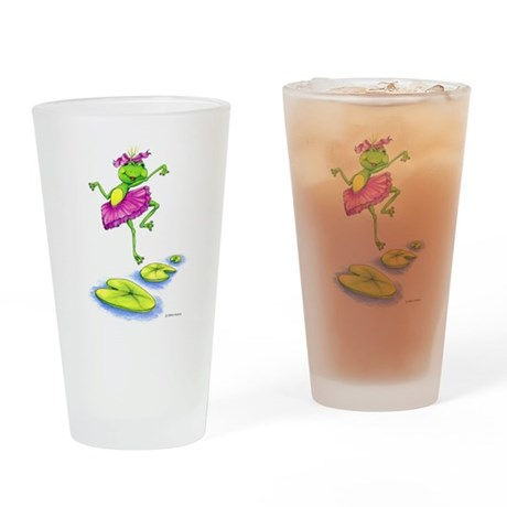 Dancing Lily Drinking Glass