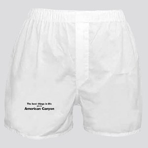 American Canyon: Best Things Boxer Shorts