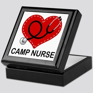 Camp Nurse Heart Keepsake Box