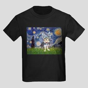 Starry-AussieTerrier2 Kids Dark T-Shirt