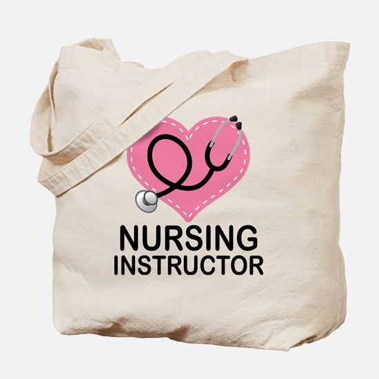 Nursing Instructor Heart Tote Bag