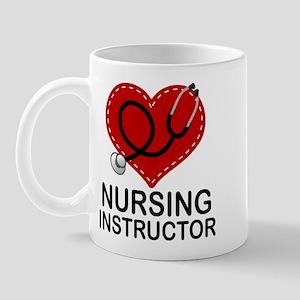 Nursing Instructor Heart Mug