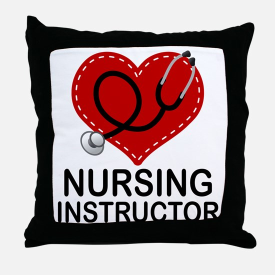 Nursing Instructor Heart Throw Pillow