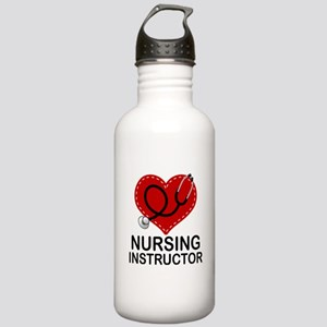 Nursing Instructor Heart Stainless Water Bottle 1.