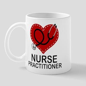 Nurse Practitioner Heart Mug