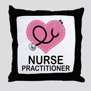 Nurse Practitioner Heart Throw Pillow