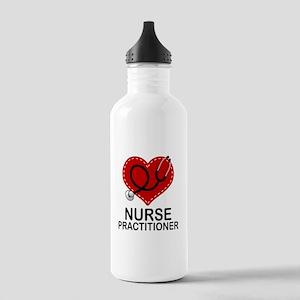 Nurse Practitioner Heart Stainless Water Bottle 1.