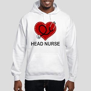 Head Nurse Heart Hooded Sweatshirt