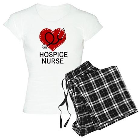Hospice Nurse Heart Women's Light Pajamas