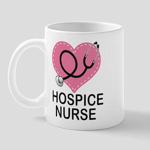 Hospice Nurse Heart Mug