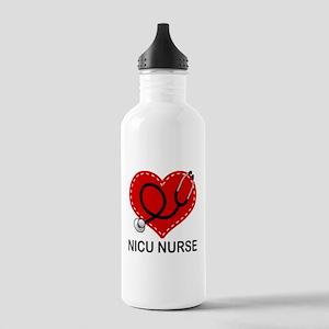 NICU Nurse Heart Stainless Water Bottle 1.0L