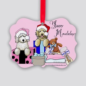 TBG Pink Christmas Picture Ornament