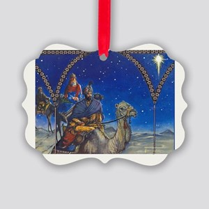 Three Kings Christmas Picture Ornament