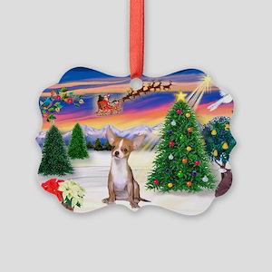 Santa's Take Off/Chihuahua Picture Ornament Pk of